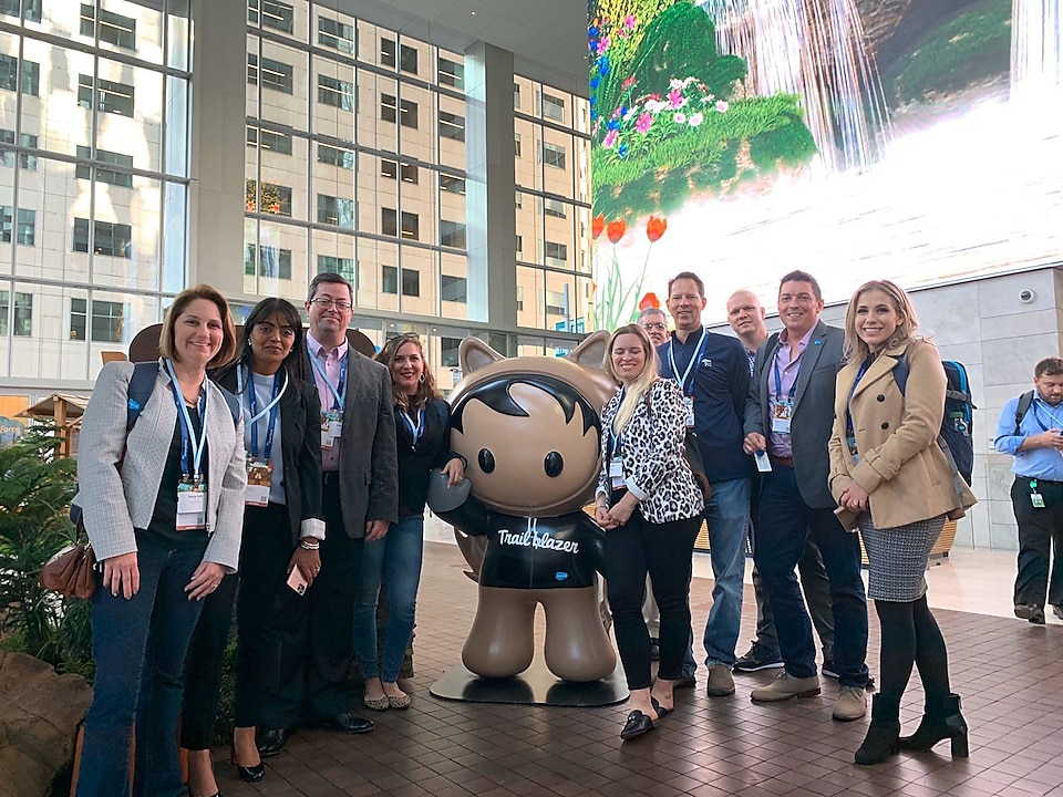 The Shell Polymers team at the Salesforce Headquarters