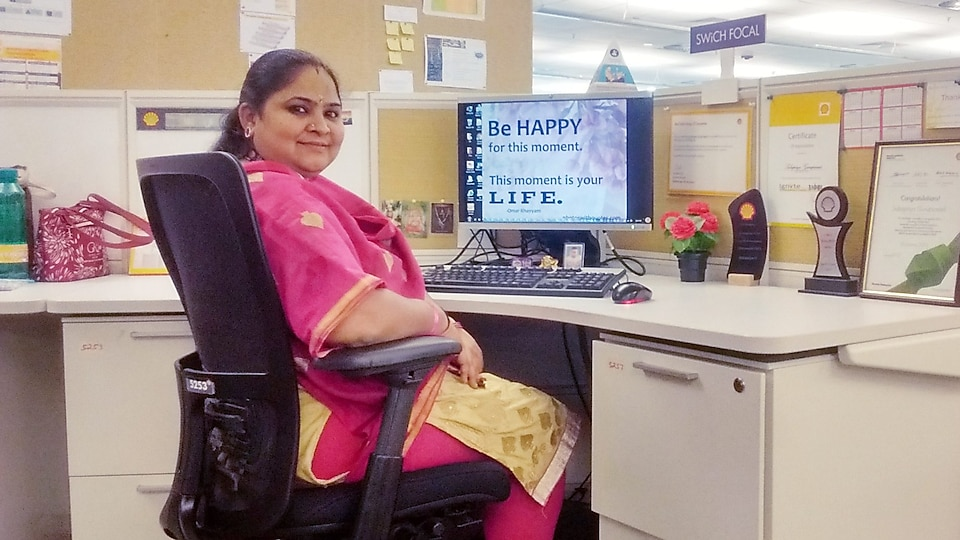 Subapriya Guruprasad at her workstation