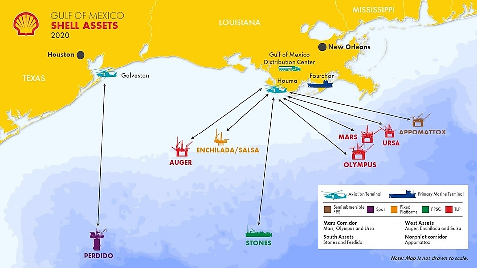 Shell operated assets map