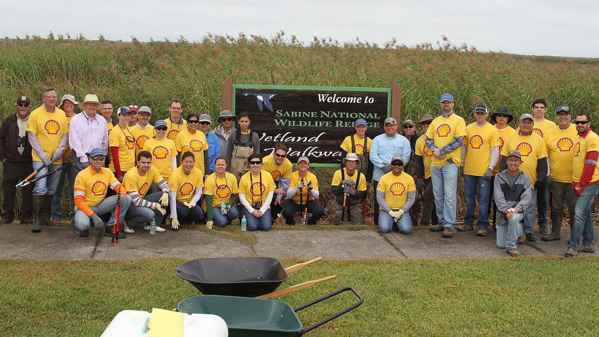 Shell's Lake Charles LNG team gets feet wet in Louisiana marshes